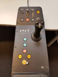 Sort eloksert aluminium- lasergravert, joystick panel til National Oilwell Varco