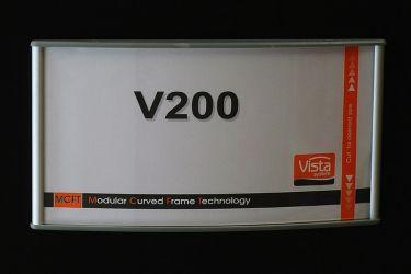 200x100  utskiftbar dørskilt (vistaskilt). Produktnummer til bestilling: WFP40