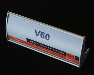 60x150mm utskiftbar bordskilt. Produktnummer til bestilling: T22