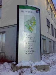 Oversiktsskilt for Vågsbygd skole