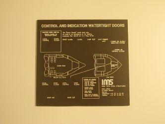 Lasergravert sort eloksert aluminium til IMS.