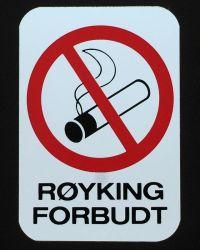 Symbolskilt og klistremerker røyking forbudt