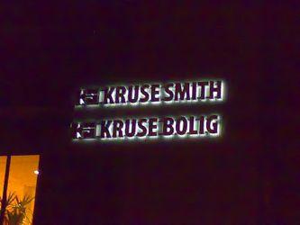 Utvendige lysbokstaver Kruse Smith