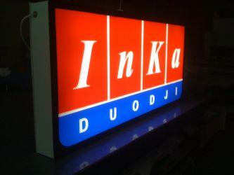 Utvendige lysskilt til InKa duodji