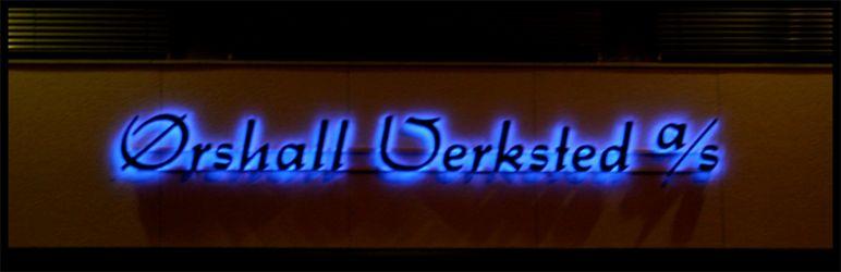 Utvendige lysbokstaver Ørshall-verksted